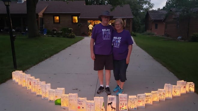 Roger and Sandi Swartz hosted a Relay For Life event at their Redwood Falls home July 18.