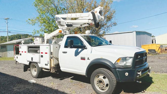 The City of Ravenswood recently received a donation of a bucket truck from American Electric Power.