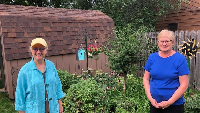 Robin Stegner (left) and Sandi Swartz spent part of their summer walking every street in the City of Redwood Falls. Along they way they also capture some of the interesting things they saw.