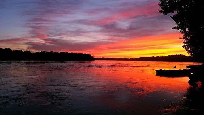 Stunning sunsets over the Missouri River come standard at Cooper's Landing (pictured) and The Station House at Katfish Katy's.