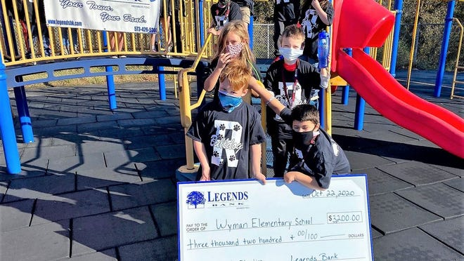 Legends Bank donated over $3,000 to Wyman Elementary for the elementary school's character education, social and emotional learning program for the 2020-2021 school year.