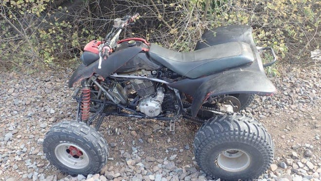 A red 2001 Honda 400EX was found near railroad tracks in the 1500 block of W. Old Highway 40 Wednesday.