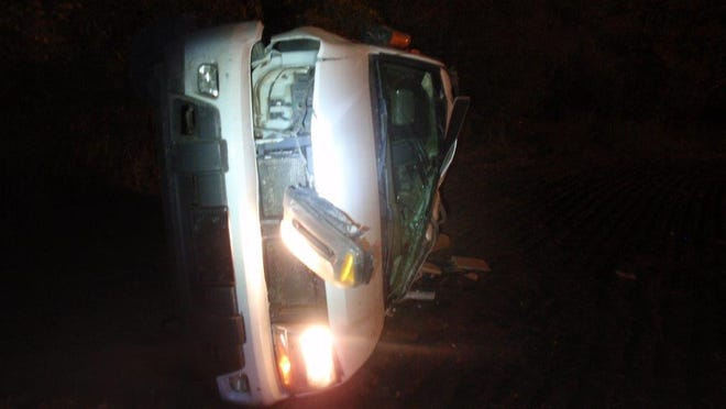 An Assaria woman was taken to the hospital after rolling her vehicle over on K-4 highway Saturday night.
