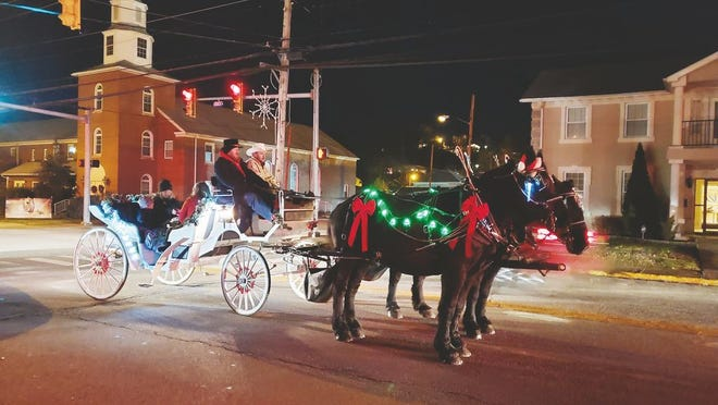 Rocky Point Farms will be in Ripley offering free carriage rides on Saturday evening, Dec. 5 (tomorrow).