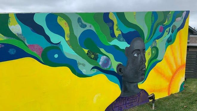 April Sunami's mural on Cleveland Avenue in Milo-Grogan