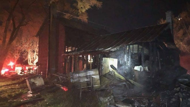 Firefighters from multiple Ionia County fire departments responded to a fire Wednesday, Oct. 28, at 7186 Canfield Road in Orleans Township.