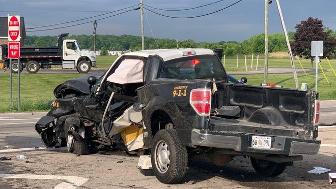 The female Monroe County Sheriff's Office deputy who was seriously injured in a crash at M-50 and S. Raisinville Rd. Thursday morning has been identified as Darrian Young, 24.