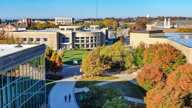FILE - Aerial photo of the Missouri University of Science and Technology campus.