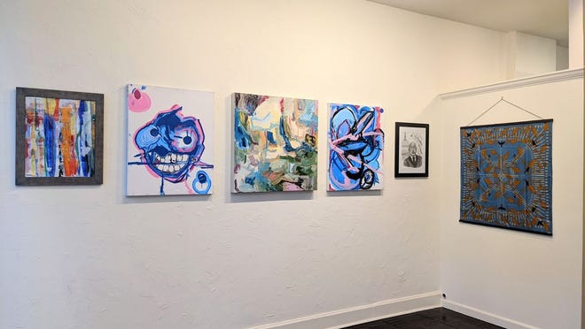 A selection of work from Emergent Art & Craft's February exhibition, which features seven local Black artists.