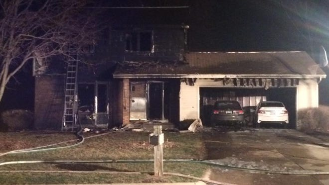 Emergency personnel responded to a house fire in the 1300 block of Illinois Avenue in Ames late Sunday night.
