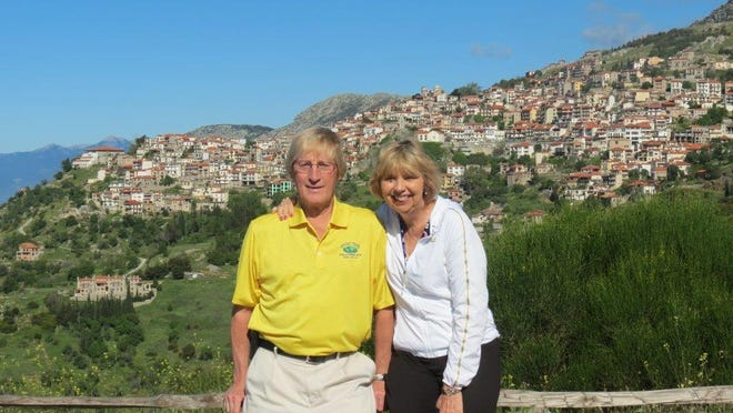 Wayne and Valerie Graczyk together in Greece.
