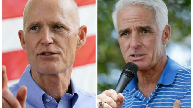 A Democratic-leaning pollster finds Republican Gov. Rick Scott leading the mercurial governor's race.