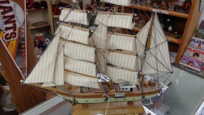 A model ship at Antique Trove in Scottsdale. Credit: Larry Cox.