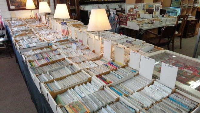The Fred Tenney postcard collection of more than 100,000 cards is at Antique Trove in Scottsdale.