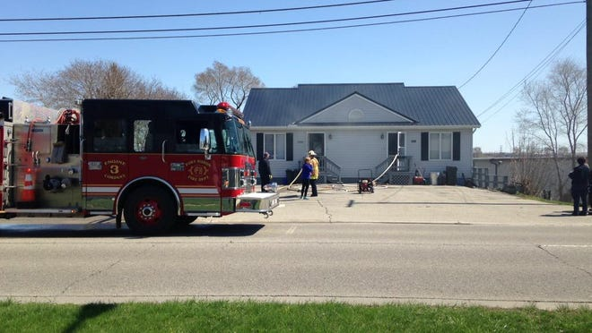 Rescue crews are at the scene of a fire on Military Street.