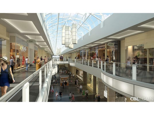 Rendering of coolsprings galleria s interior renovations the