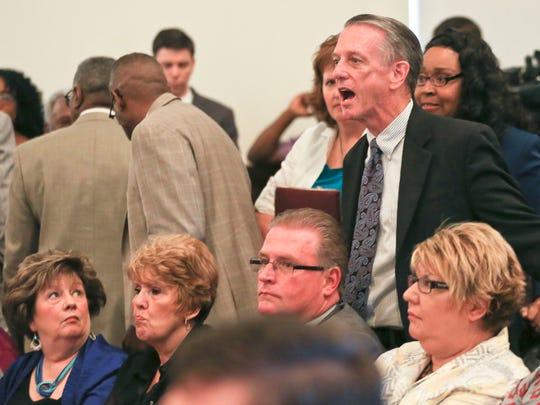 Pastor Joe Phelps of Highland Baptist Church yells