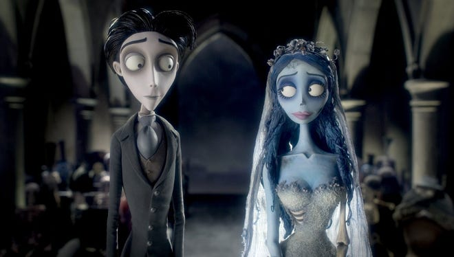 "Tim Burton directs ""Corpse Bride"" (2005), which features the voices of Helena Bonham Carter and Johnny Depp."