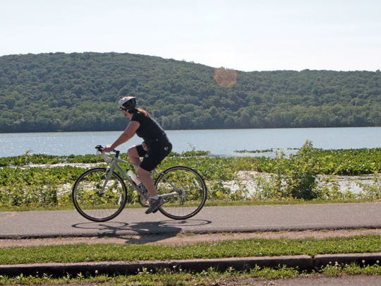 Biking-riding is one of the many activities that Rockland