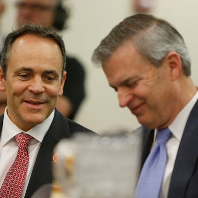Kentucky Governor Matt Bevin, left and Education and