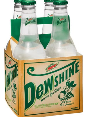 Mountain Dew DEWShine will be available in two package sizes:  12-oz. single-serve glass bottles and 4-pack 12-oz. glass bottles.