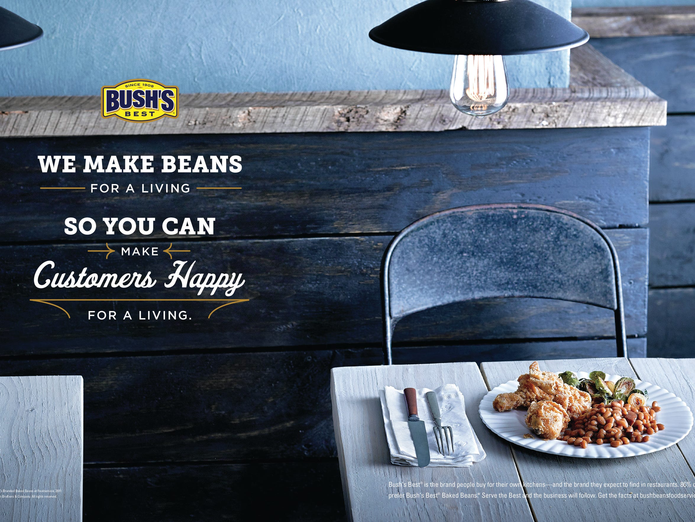 An advertisement for Bush's Best Beans created by Marlin,