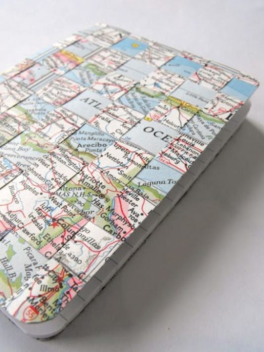 travel journal with woven map cover.jpg