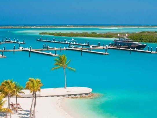 Blue Haven offers idyllic views of the turquoise waters