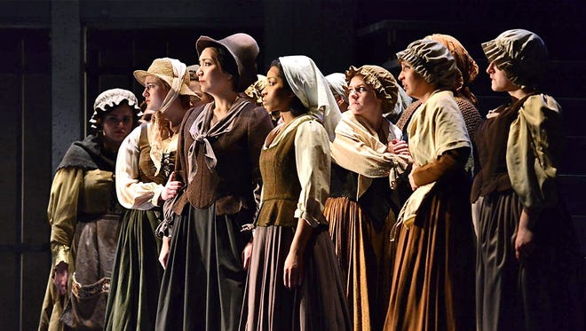 Kimberly Merrill, Hannah Roberts, Elizabeth Fildes, Joel Dyson, Nicole Heinen, Lulu Cossich and Rebecca Herlich in Dialogues of the Carmelites.