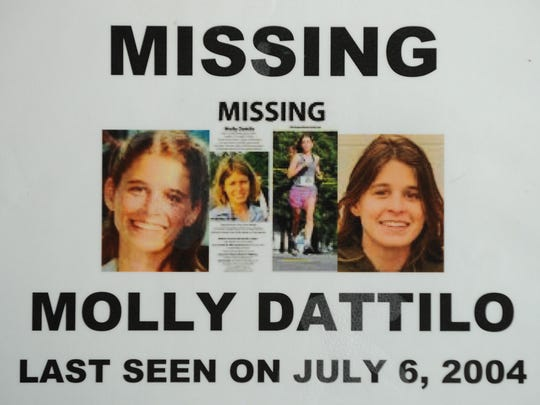 Detail shot from poster created after Molly Dattilo went missing on July 6, 2004.