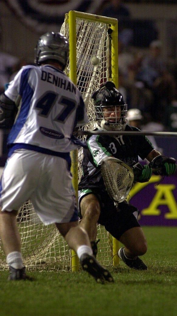Brian Carcaterra attempts to stop Dan Denihan during