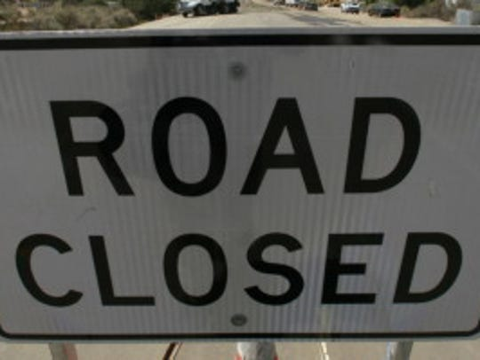 """Road Closed"" sign"