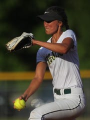 Lincoln senior Kelsie Rivers pitches against Wakulla.