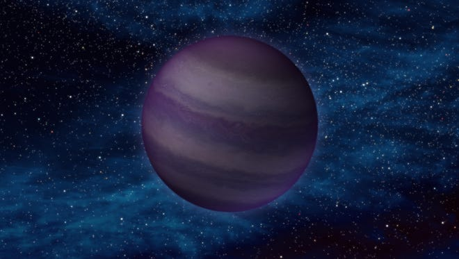 An artists' conception of the mysterious Planet 9.