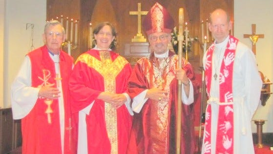 Rev. Sarah St. John Guck was ordained to the priesthood last Saturday. The Right Rev. Michael Vono, 9th bishop of the Episcopal Diocese of the Rio Grande, officiated at the two-hour ceremony.