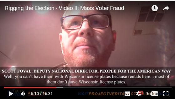 In this screenshot taken from a video, Democratic operative Scott Foval discusses bringing people into Wisconsin from out of state. Attorney General Brad Schimel's office determined the video does not show any violations of Wisconsin laws.