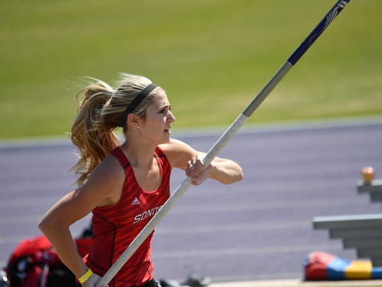 Sonora senior Lane Cahill is a two-time state qualifier in the pole vault and earned a silver medal last year at state. She comes into the state meet as the regional champion after having won the wildcard in 2018. (Photo credit: Ray Glasscock / Special to the Standard-Times