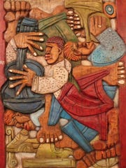 """Let the music move you with series of jazz-inspired carvings called """"Goin' Down South: An Exhibition of Wood Carvings by LaVon Van Williams Jr."""" opens with an opening reception from 5:30 to 7:30 p.m. Friday at The Foster Tanner Fine Arts Gallery, 1630 Pinder St. It's free and open to the public. Van Williams' """"Pea Pie with the Stay High Boys"""" pine work from 2013 is shown here. """"Goin' Down South"""" is on view until March 23."""