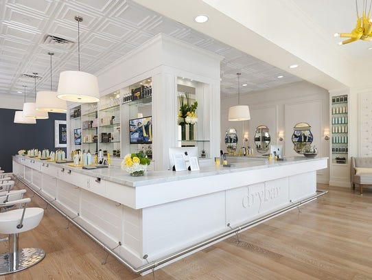 An interior shot of a Drybar blowdry shop.