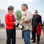 Photos: Ernst tours new plant in Boone on her 99-county tour