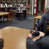 Military veterans represented half of the audience of about 30 people Monday night during a listening session hosted by state Rep. Joel Kitchens, R-Sturgeon Bay, inside the library at Sturgeon Bay High School. Proposed bills and the Sturgeon Bay's waterfront hotel project were also discussed.