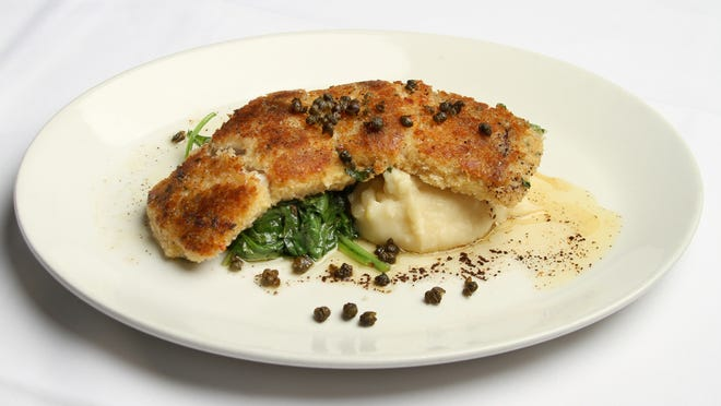 Flounder Piccata by Chef Gregg McCarthy at The Grand Marlin Restaurant and Oyster Bar on Pensacola Beach.