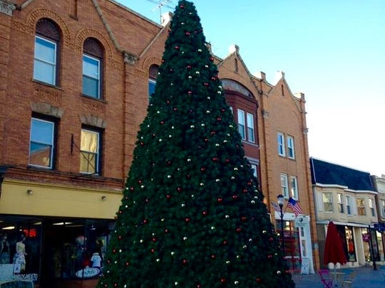 Downtown Somerville is decked out for holiday shopping.