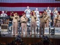 The Airmen of Note perform for Montgomery's annual Glenn Miller Holiday Concert at Troy University's Davis Theatre on Wednesday, Dec. 13, 2017.