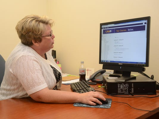 ANI Maria Burke Maria Burke, a freshman English composition adjunct instructor at LSUA, talks about the course Tuesday, June 9, 2015. -Melinda Martinez/The Town Talk