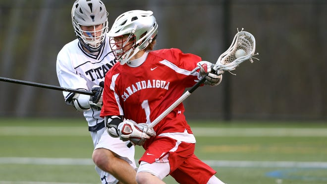 Canandaigua's Devin Andrews was the AGR boys lacrosse player of the year. Canandaigua, a known lacrosse hotbed, is one of 12 host cities for the Shootout for Soldiers event that raises money and awareness for veterans.