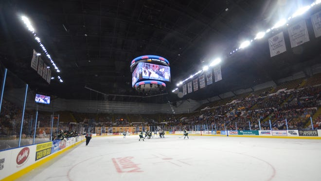 The Milwaukee Admirals at the UW-Milwaukee Panther Arena.