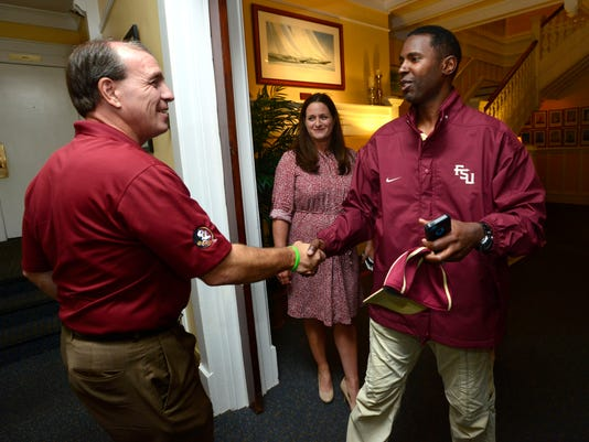 FSU Football coach Jimbo Fisher visits Pensacola duirng Seminole Boosters Champions Tour