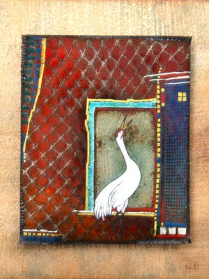 """""""Whooping Crane"""" Red Kathy Wilcox"""