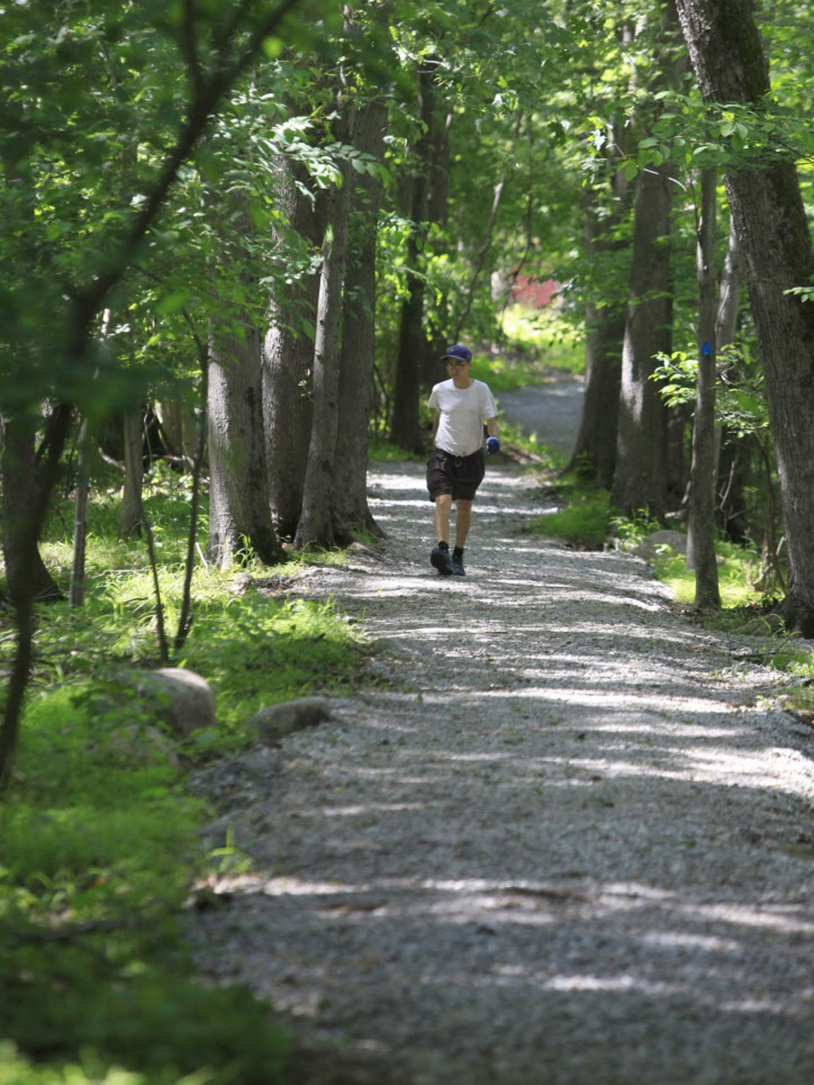 William McSheffrey walks the Pompton Aquatic Park trail